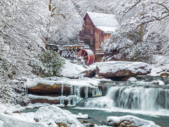 Image result for mill wheel in winter