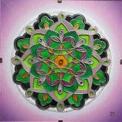 """Mandala Hand Glass drawing Mandala """"Probuzení...."""""""