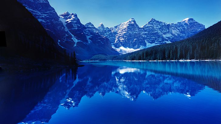 Blue lake and the mountains  http://5kwallpapers.com/wall/blue-lake-and-the-mountains  #blue #lake #mountains #nature #water #trees