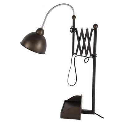 """A&B Home Group, Inc 34.8"""" H Table Lamp with Bowl Shade"""