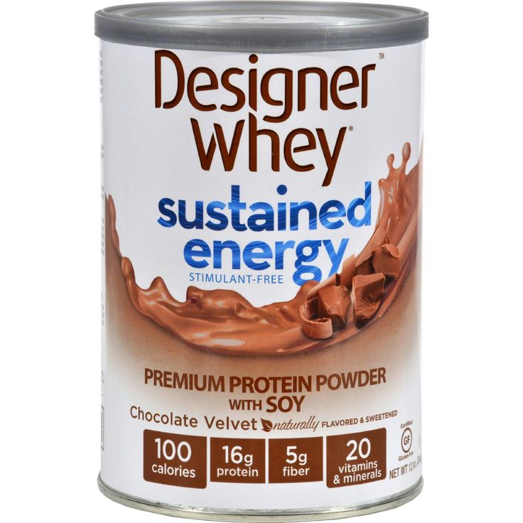 Designer Whey Protein Powder - Sustained Energy Chocolate Velvet - 12 oz