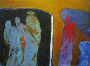 Guy Warren Watching 2007 acrylic on canvas 52 x 71 cm