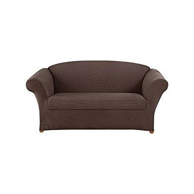 Sure Fit Honeycomb Loveseat Slipcover Color: Espresso