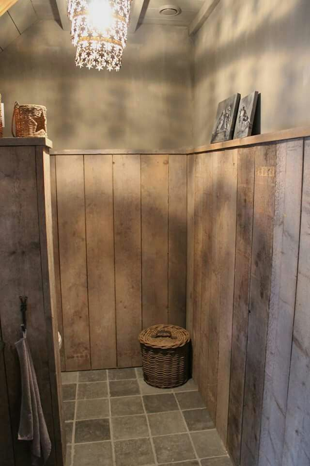 Meer dan 1000 idee n over wc inrichting op pinterest gashaarden kroonlijsten en kast - Wandbekleding voor wc ...