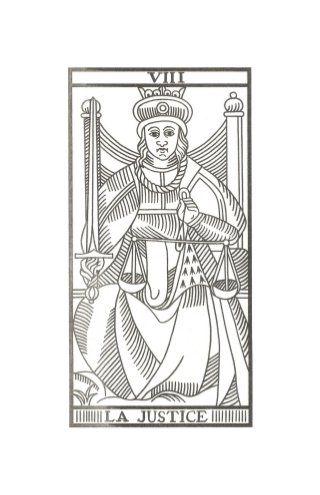 La Justicia Tarot de Marsella de Jodowrosky