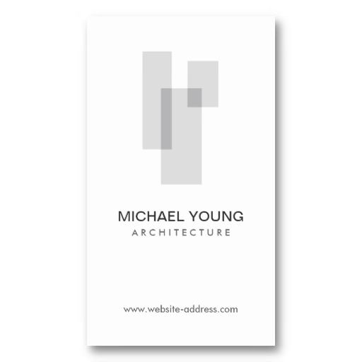 GRAY BLOCKS LOGO for Architects, Builders, Design Business Card Templates