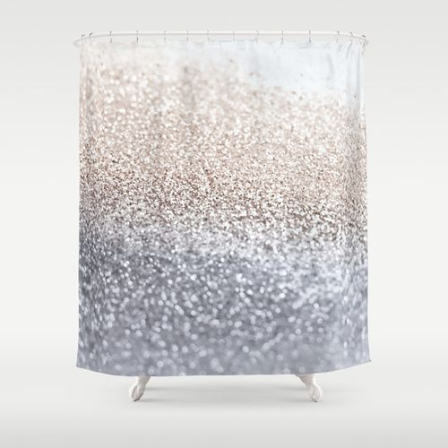 SILVER Shower Curtain Home Ombre And Love This