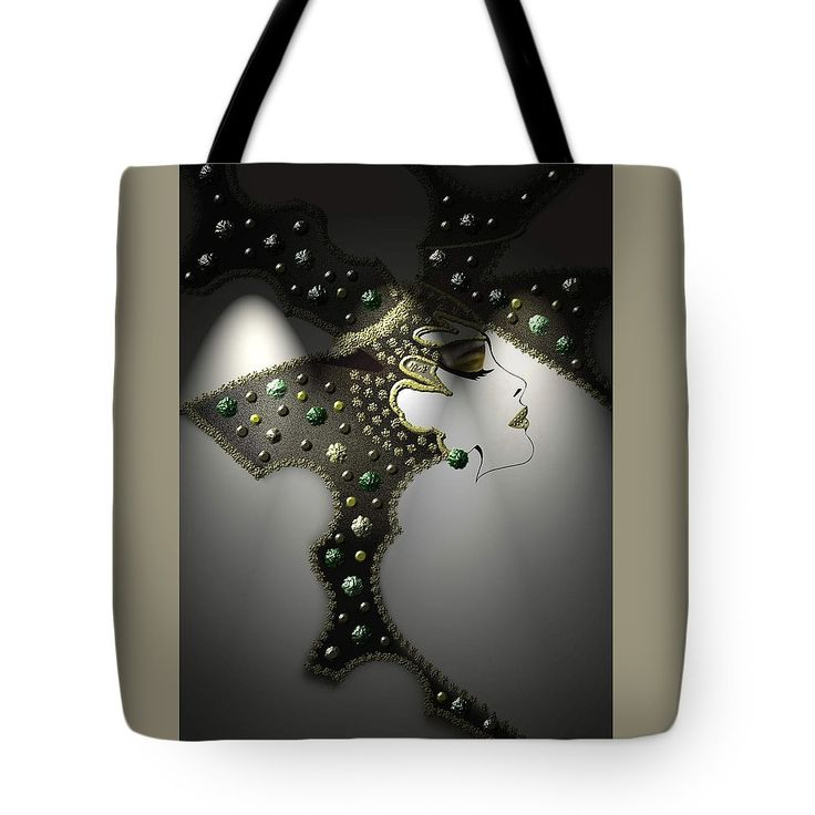 """Glam Tote Bag (18"""" x 18"""") by Muge Basak.  The tote bag is machine washable, available in three different sizes, and includes a black strap for easy carrying on your shoulder.  All totes are available for worldwide shipping and include a money-back guarantee."""