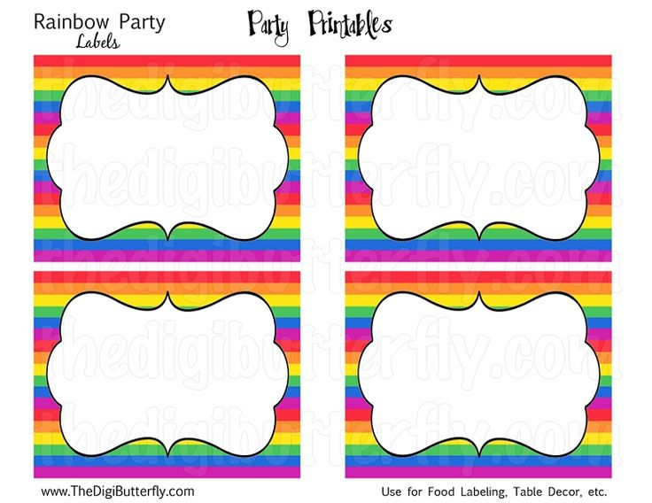 25+ Best Ideas about Rainbow Party Invitations on ...