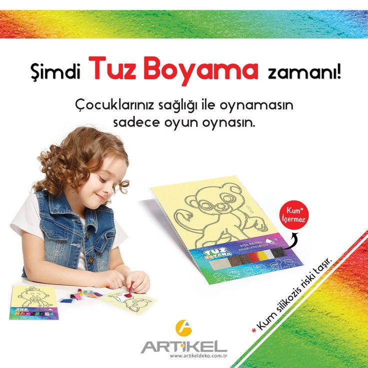 Şimdi tuz boyama zamanı!  #tuzboyama #kumiçermez #renklituz #çocukaktivite #boya #artikeldeko #artikel