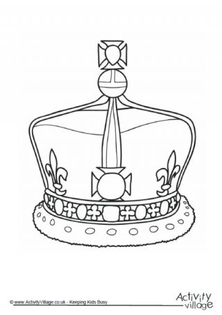 7 Best Crown Coloring Pages Images On Pinterest