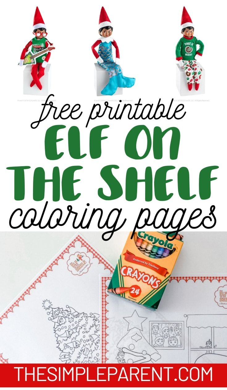 Download These Free Printable Elf On The Shelf Coloring Pages Pair These Coloring Sheets With Your Elf For An Easy Business For Kids Elf On The Shelf The Elf