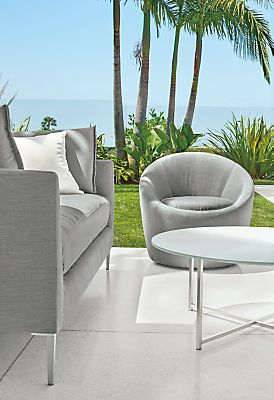 Crest Outdoor Swivel Chair   Laguna Modular Sectional With Crest Swivel  Chairs   Modern Outdoor Furniture