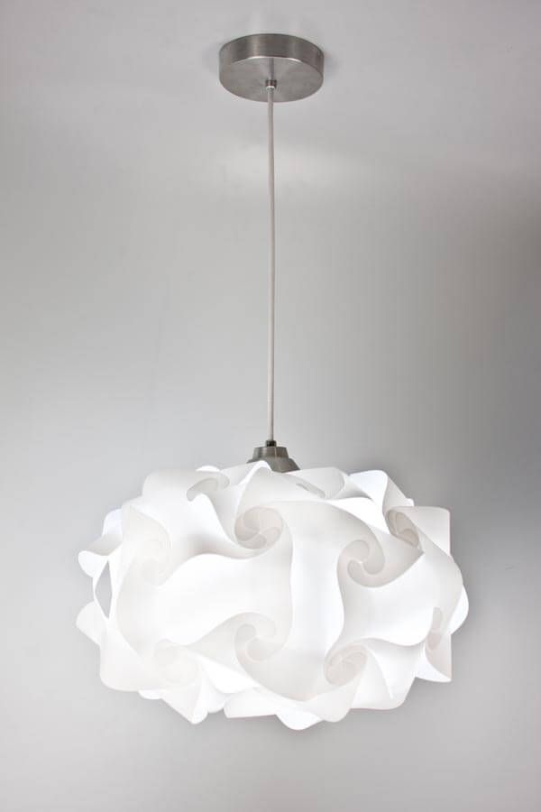 white pendant lighting. maybe for the staircase light eqlight cloud w white pendant with shade lighting p