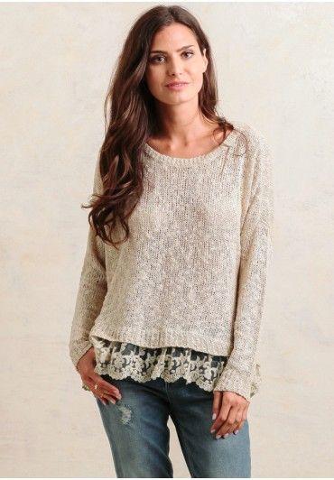 Soft Breeze Sweater In Beige | Modern Vintage Earth Tones | Ruche