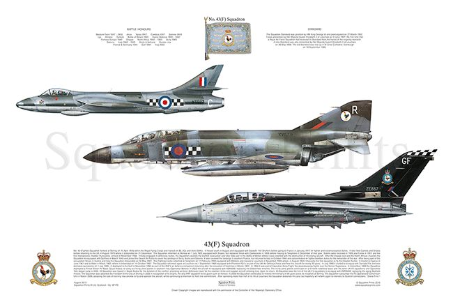 raf 43 f squadron hunter f 4 phantom tornado f3 squadrons plane liveries pinterest. Black Bedroom Furniture Sets. Home Design Ideas