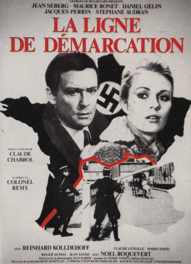 """Line of Demarcation (1966) """"La ligne de démarcation"""" (original title) Stars: Jean Seberg, Maurice Ronet, Daniel Gélin, Jacques Perrin, Stéphane Audran ~  Director: Claude Chabrol"""