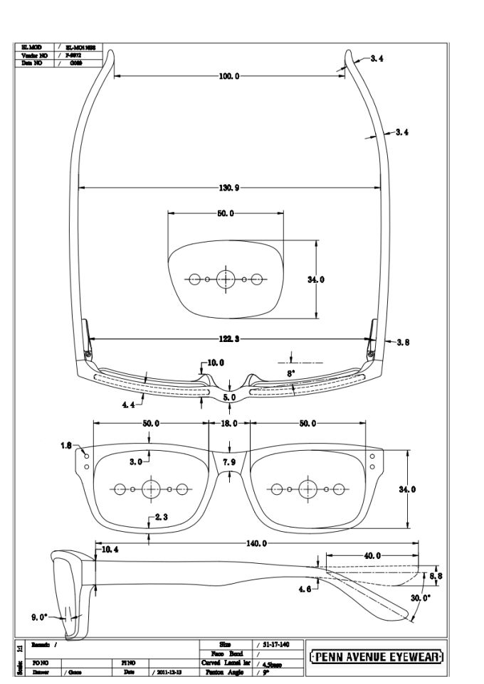 Glasses Technical Drawings Google Search Glasses
