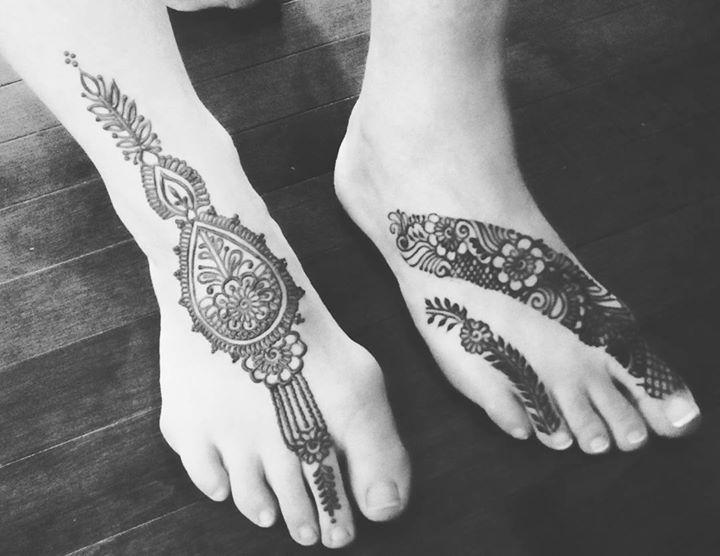 Mehndi Ankle Instagram : Simple anklet feet ornament henna mehndi design tattoo tutorial