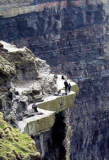 A nice walk on the cliffs of Moher, County Clare, Ireland
