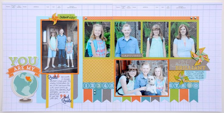 Two Page Layout (cute for back to school)