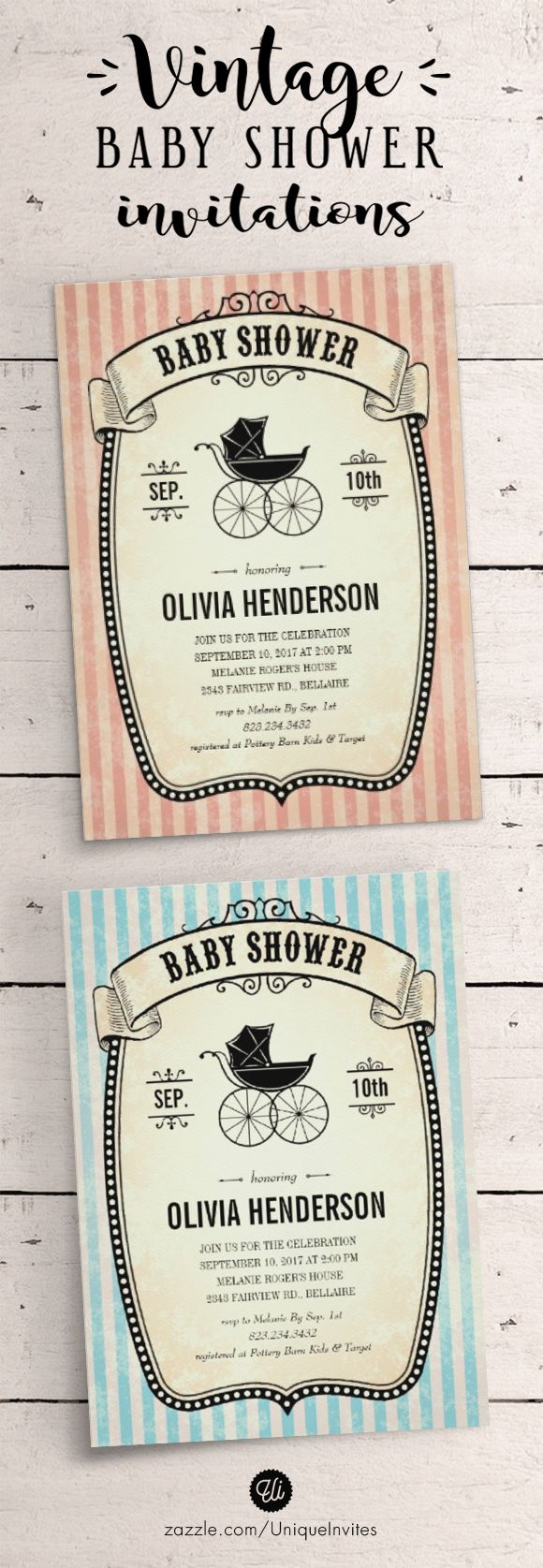 Vintage Baby Showers 70