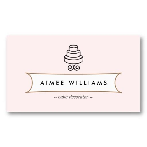 36 best business cards peace of cake images on pinterest vintage cake logo ii for bakery cafe catering business card reheart Image collections