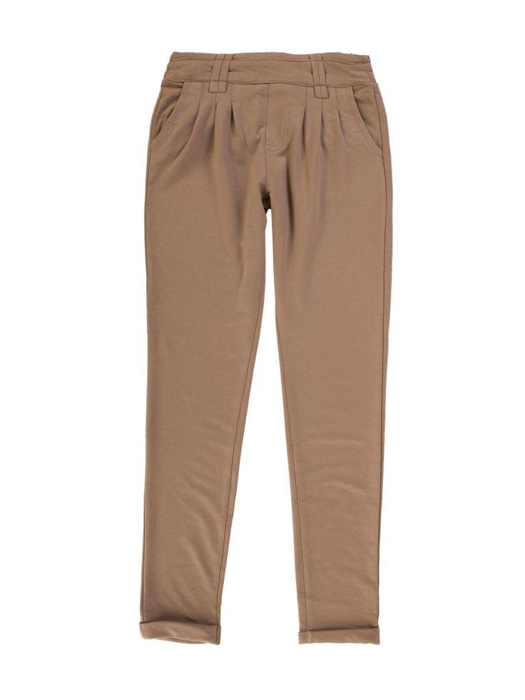 Spodnie damskie z prostą nogawką gładkie  - XSD0098 - odzież damska - txm24.pl camel