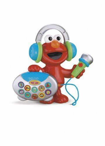 Fisher Price Sesame Street Sing With Elmo's Greatest Hits by Fisher Price. $79.99. From the Manufacturer                Sing with Elmo's Greatest Hits features Elmo with a boom box that plays 5 songs and 5 melodies. The boom box also features an applause and cheer button and a microphone that lets you sing along with Elmo. Sing with Elmo's Greatest Hits features the Chicken Dance song, the Hokey Pokey song, E-L-M-O Shout, and the Elmo's World theme song.                         ...