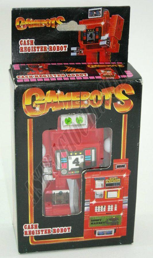 Transformers Registratore di cassa robot,originale anni '80,nuovo in scatola mai usato