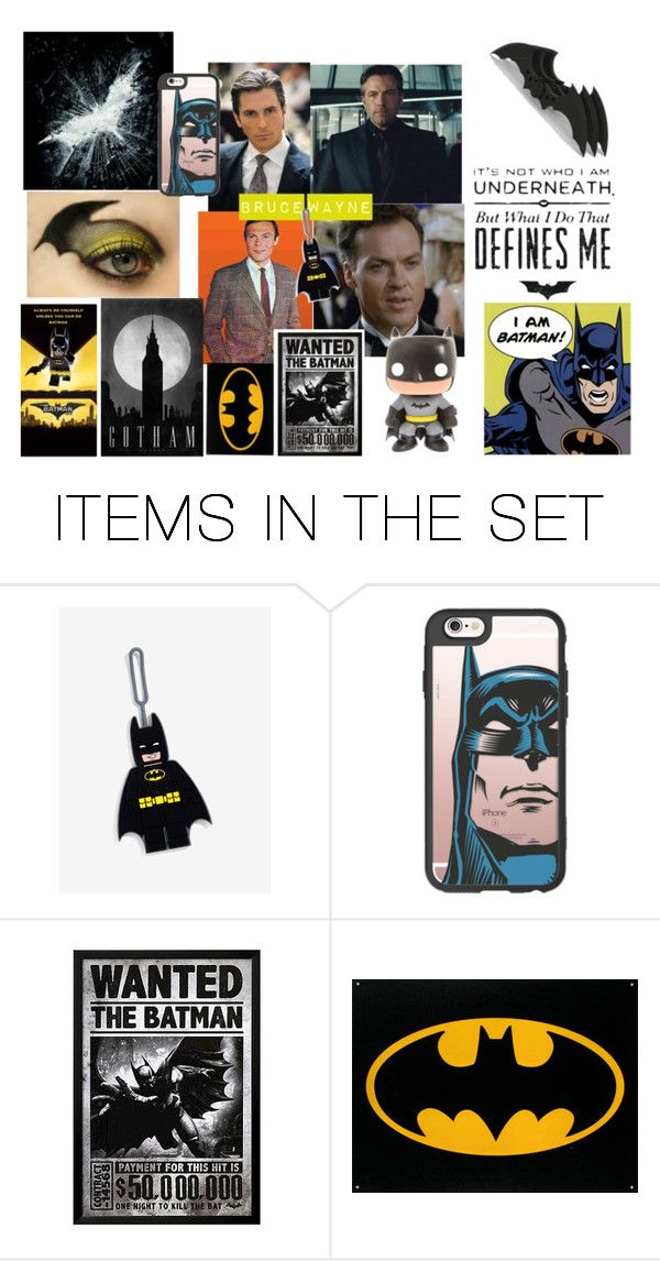 """Bruce Wayne"" by emily-dickson-1 ❤ liked on Polyvore featuring art"