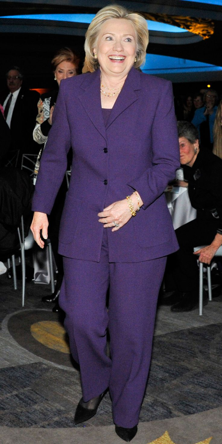 Hillary Clinton's Career in Pantsuits - March 3, 2015 from InStyle.com