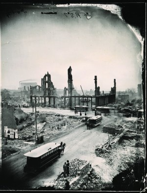 Chicago after the great fire of 1871.