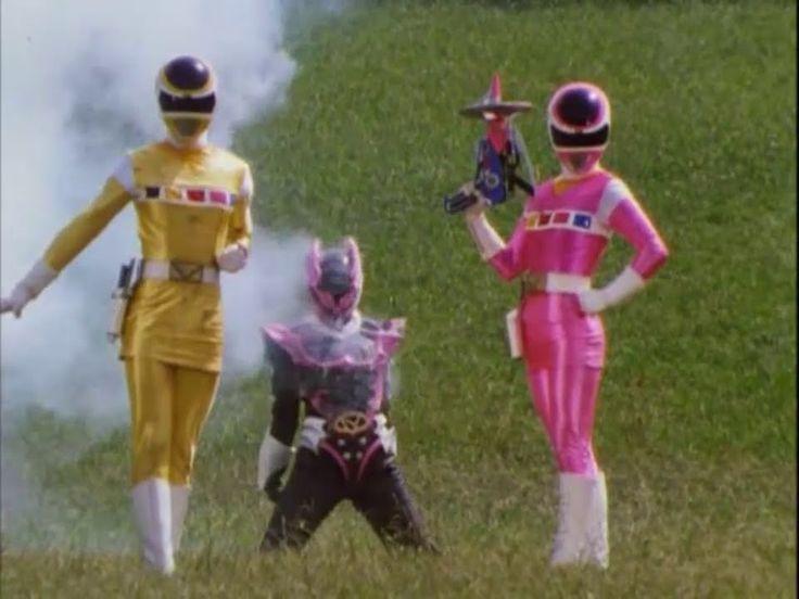 Power Ranger En El Espacio | Pink y Yellow Space Ranger vs Psycho Pink y...