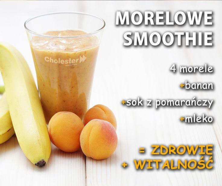 Morelowe smoothie doda Wam energii i schłodzi w upalne dni. :) #smoothie #morele #owoce #zdrowie