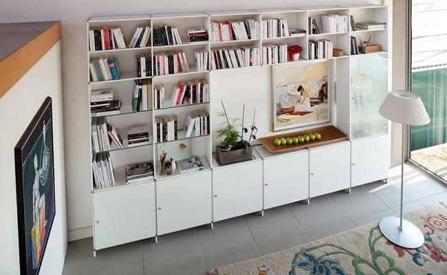 LOUNGE - FITTING PURE WHITE - LIBRERIE - e-Commerce - Piarotto bookcase
