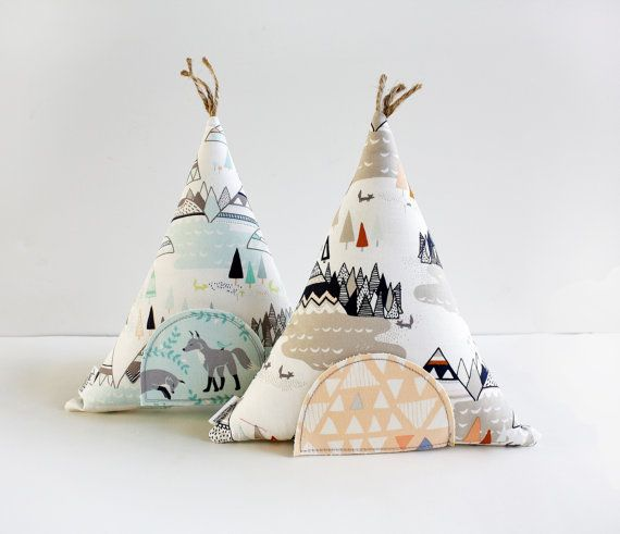 Tooth fairy pillow teepees! When cute little frilly houses just aren't right for your kid.