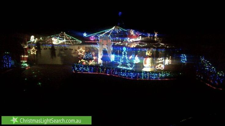 Christmas lights in Currambine, WA, Australia.