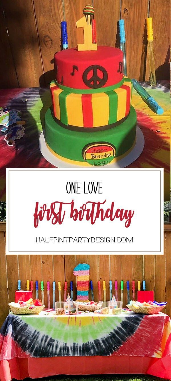 One Love first birthday party. Rasta cake and musical celebration. First birthday party Jamaican style.