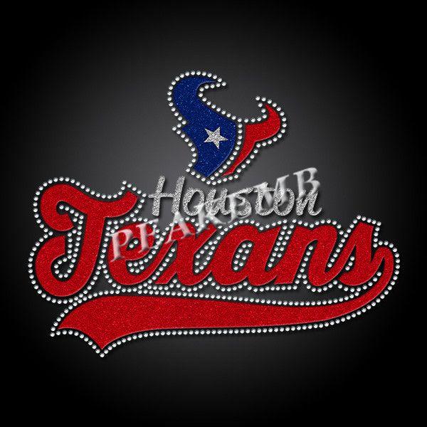 Custom Houston Texans Glitter Logo Iron On Heat Transfer Vinyl Heat Transfer Vinyl Glitter Vinyl Heat Transfer