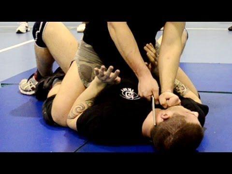 KRAV MAGA TRAINING • Knife to throat Disarm on the ground - YouTube