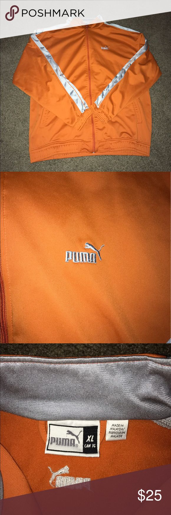 Puma XL orange zip up jacket In excellent condition Puma Jackets & Coats Performance Jackets