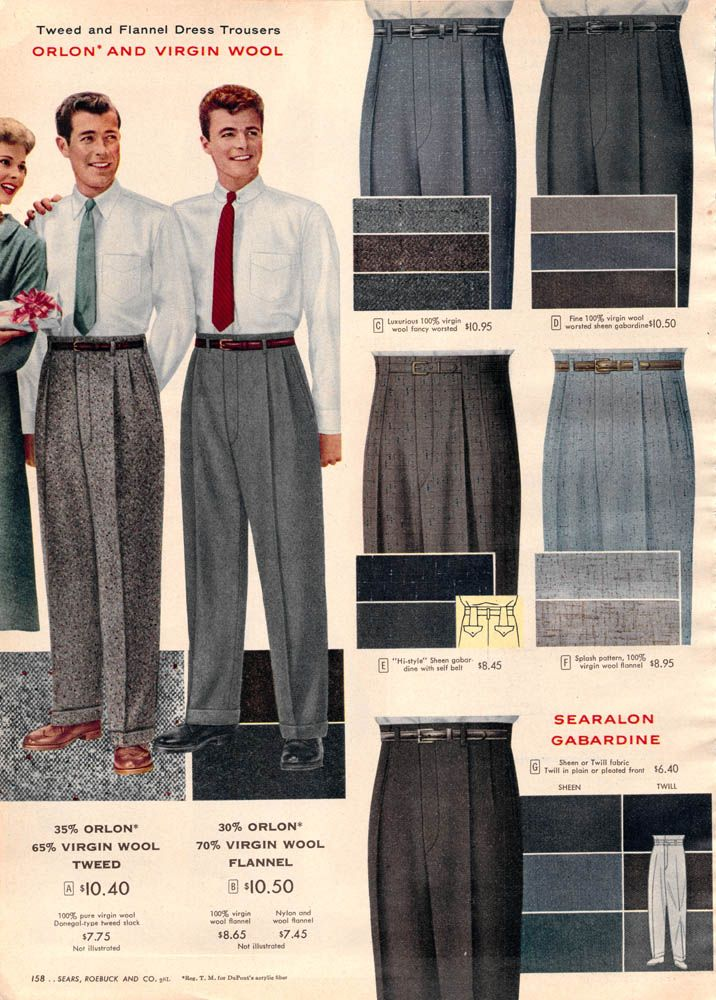 1956 mens trousers pantalons hommes ann es 50 usa pinterest vintage men. Black Bedroom Furniture Sets. Home Design Ideas