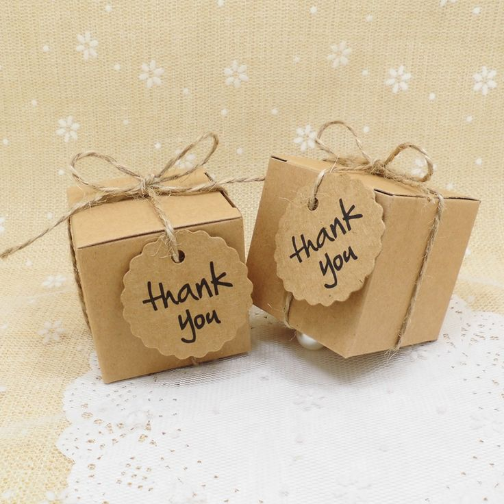50pcs/lot Kraft Paper Wedding Candy Box with Thank You Tag decoracion vintage rustic wedding supplies wedding gifts for guests-in Event & Party Supplies from Home & Garden on Aliexpress.com | Alibaba Group