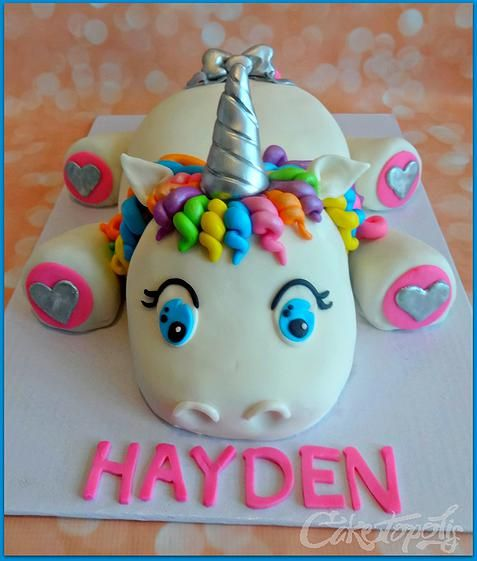 Rainbow Unicorn Birthday Cake - For all your cake decorating supplies, please visit craftcompany.co.uk