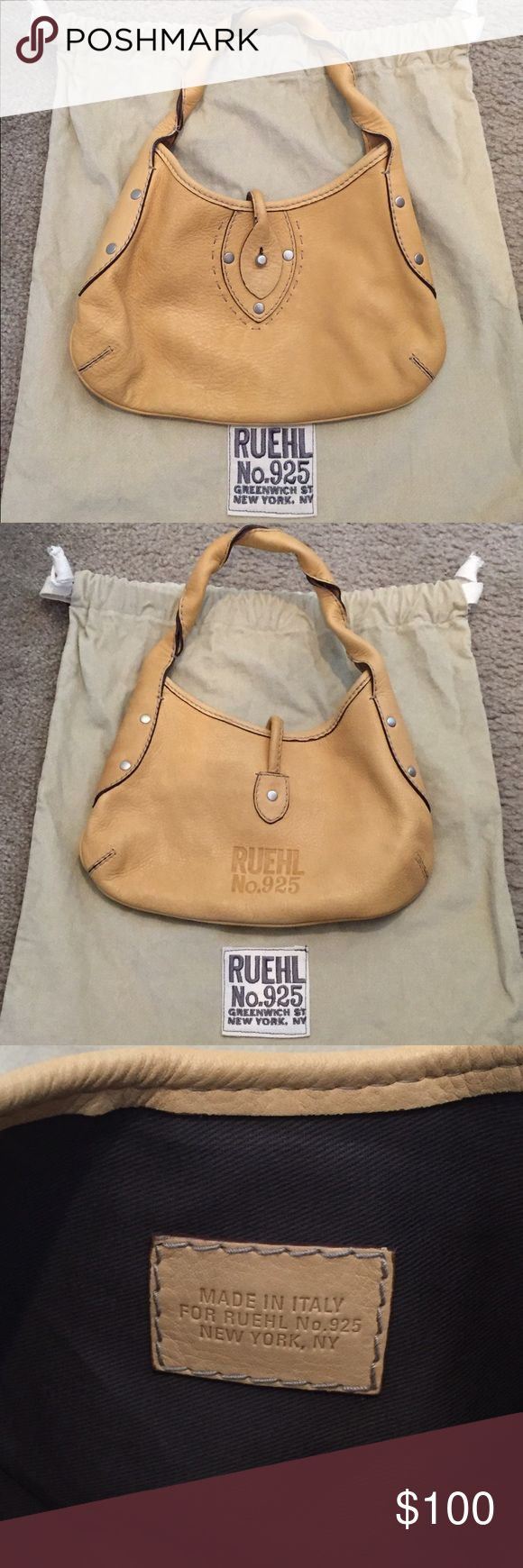Small All Leather Over Shoulder Purse This is a almost brand new all leather purse from Ruehl No. 925 which used to be an offshoot of Abercrombie. The brand was meant to be a more mature adult style and the craftsmanship is wonderful. The purse has been used once or twice and is made of Italian leather. It comes with the original dust bag. Make me an offer! Abercrombie & Fitch Bags