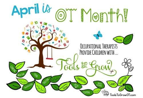 April is OT Month! Here are some Occupational Therapy Month Resources, Activities, Handouts to promote OT.