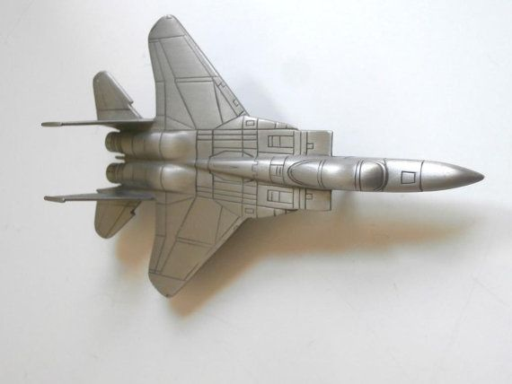 Pewter McDonald Douglas F15 Airplane Danbury Mint by Pascalene, $30.00