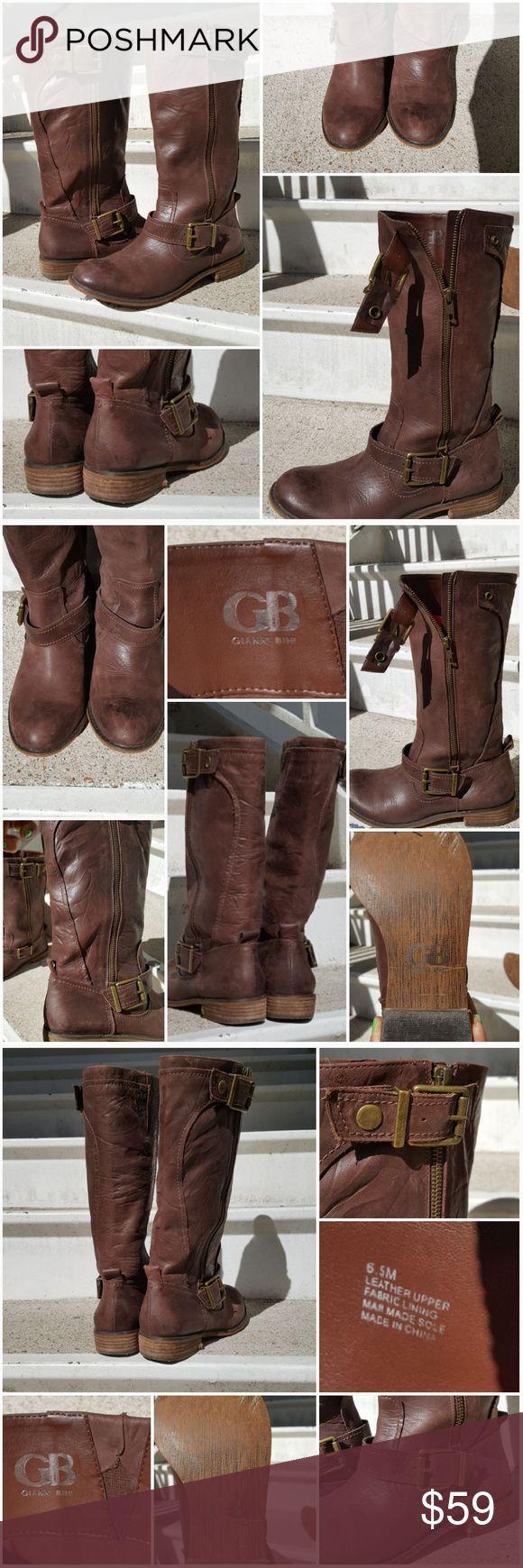 Gianni Bini Brown Leather Boots Gianni Bini Brown Leather Boots  SIZE 6.5 Gianni Bini Shoes Combat & Moto Boots