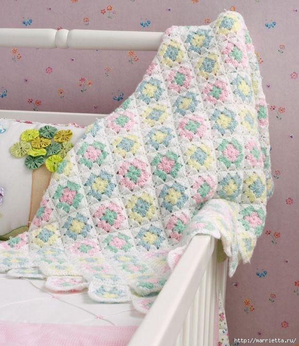 Pături pentru copii cârlig.  Conducerea (4) (581x672, 231 kb)